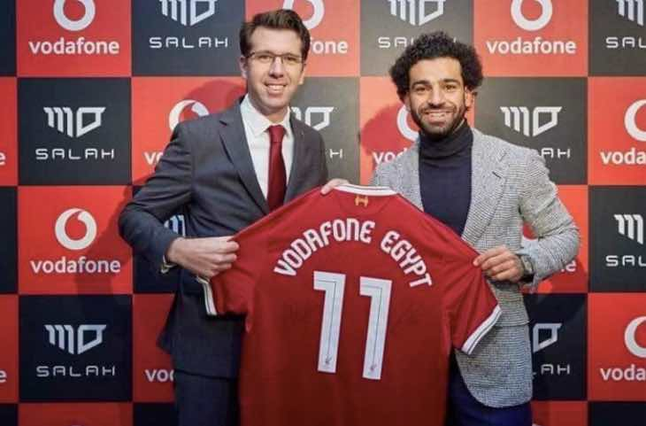 Mo Salah Vodafone Egypt tariff offers free minutes for goals
