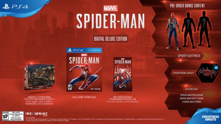 Spider-Man PS4 release date with pre-order bonuses – Product Reviews Net