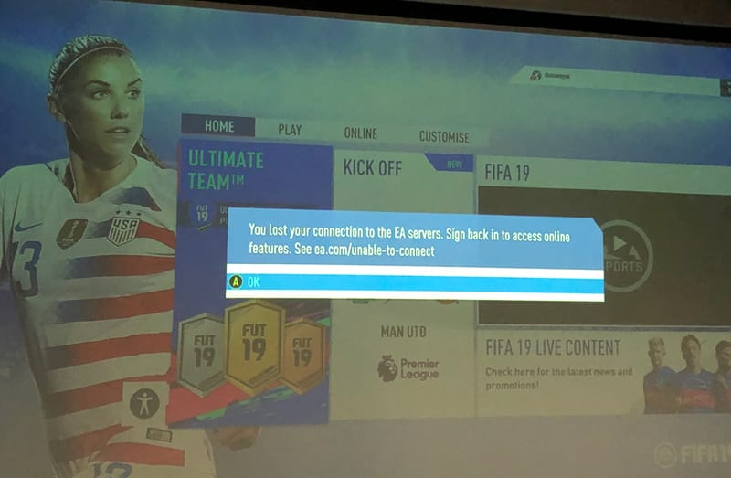 EA Servers go down in FIFA 19 with lost connection error