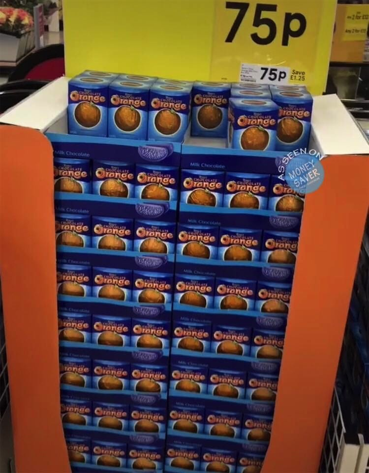 Terrys Chocolate Orange Box Reduced To 75p At Tesco