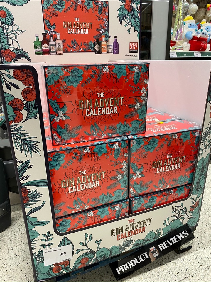 New Gin Advent Calendar Spotted At Sainsburys Product