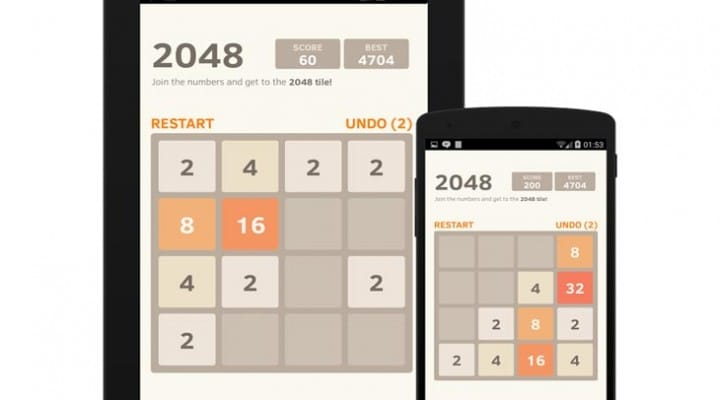 2048 app for Android, iPhone, and iPad