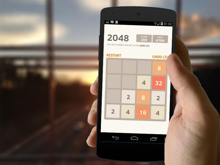2048-game-on-Android-phone