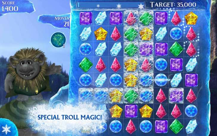45 new Frozen Free Fall levels in new update