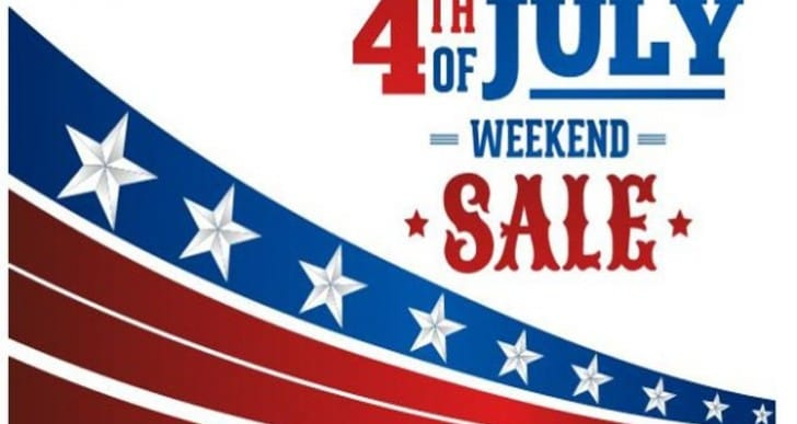 4th of July sales and store open hours