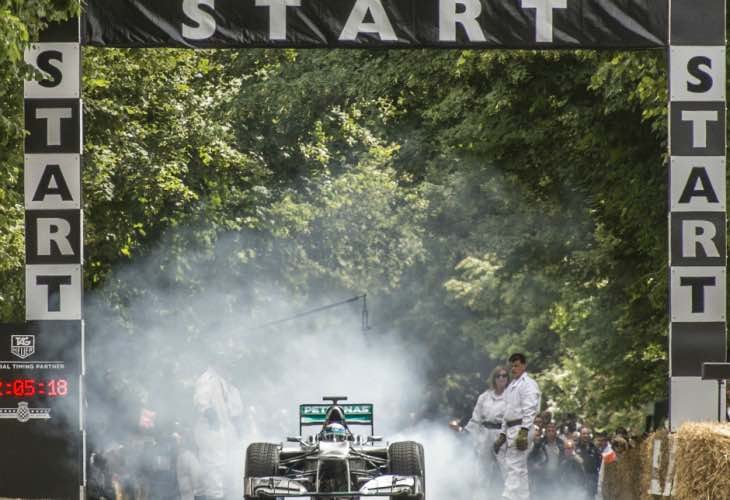 5 F1 teams at 2015 Goodwood Festival of Speed