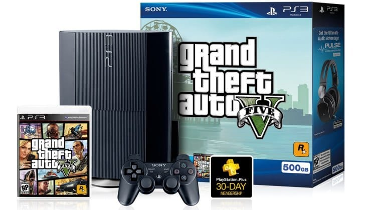 This 500GB PS3 with GTA V console bundle will not come with the vertical stand