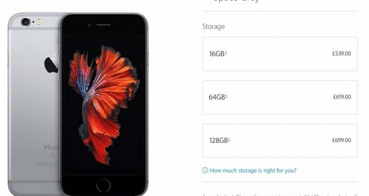 64GB iPhone 7 at 16GB price point desired