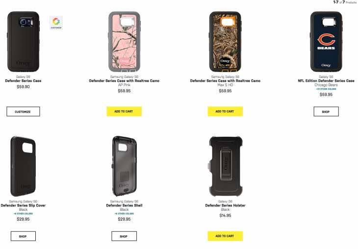 7 Galaxy S6 OtterBox Defender Series Cases