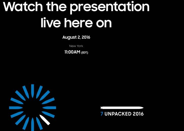 7 Unpacked 2016 Event live stream