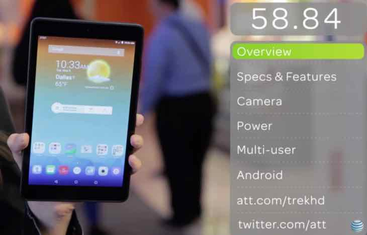 AT&T Trek HD 4G LTE tablet contract options