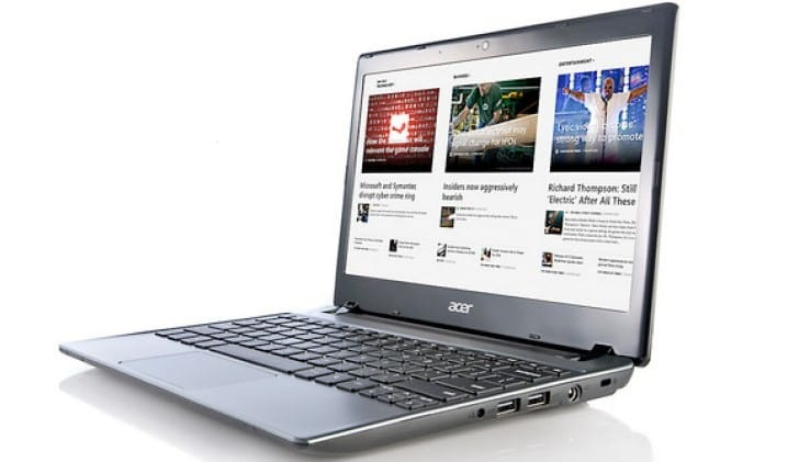 Acer Chromebook with low specs as portable browser