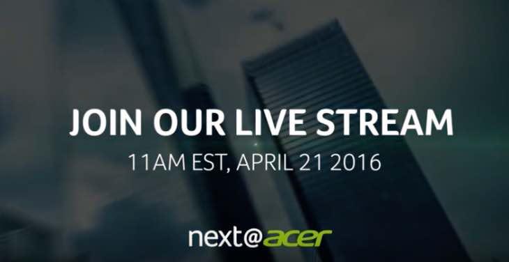 Acer live stream 2016
