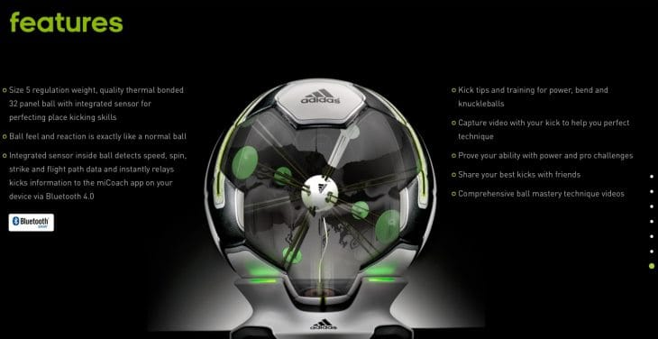 Adidas miCoach Smart Ball price