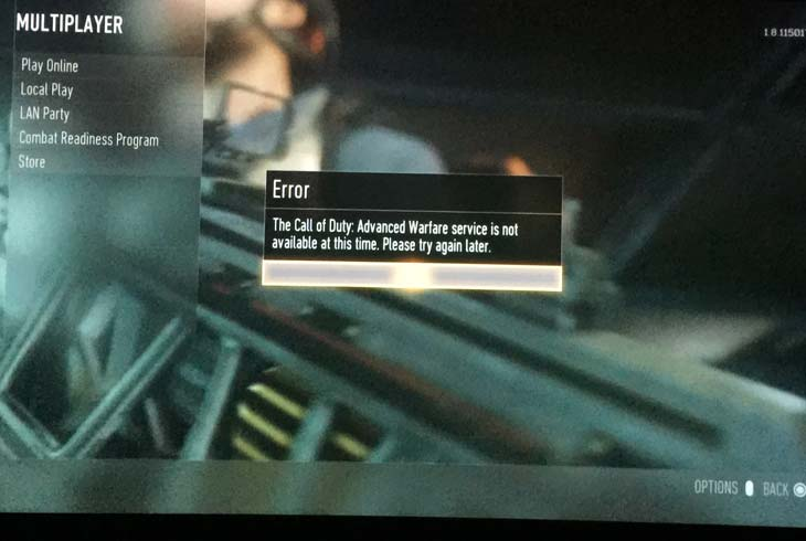 Advanced-Warfare-service-not-available-error