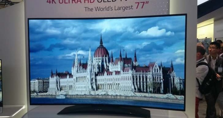 Affordable large LG OLED 4K TVs not expected in 2016