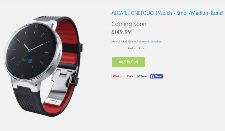 Alcatel Onetouch Watch release