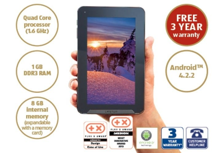 Aldi Medion Lifetab tablet vs. Android rival