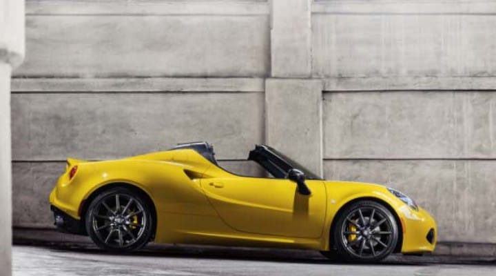 Alfa Romeo 4C Spider 2015 changes and roof options