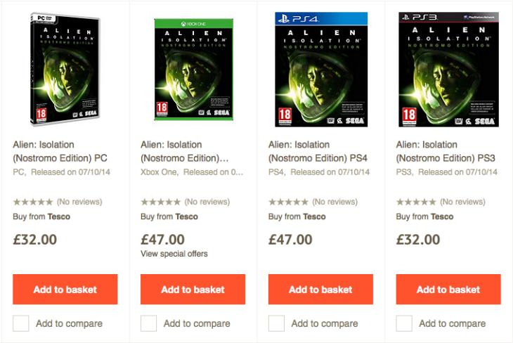 Alien Isolation price in the UK