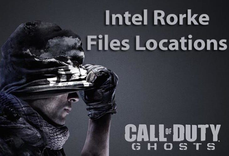 All Call of Duty Ghosts Rorke File locations visualized