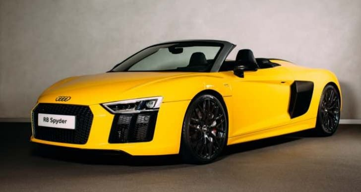 All-new Audi R8 Spyder UK deliveries start late 2016