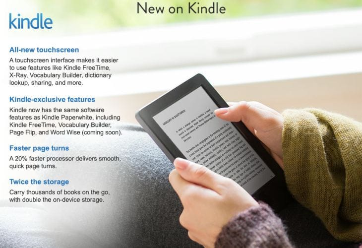 All-new Kindle with touch for $79.00