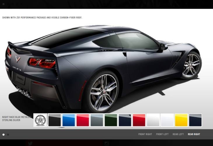Alleviating C7 Corvette Stingray configurator release