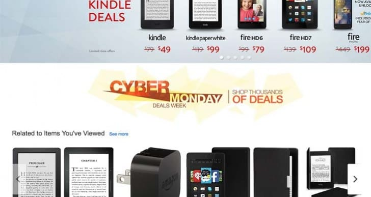 Amazon Cyber Monday TV, tablet sales start early