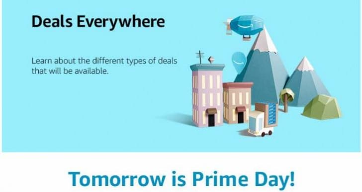 2016 Amazon Prime Day start time in your country