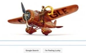 Amelia Earhart Google doodle