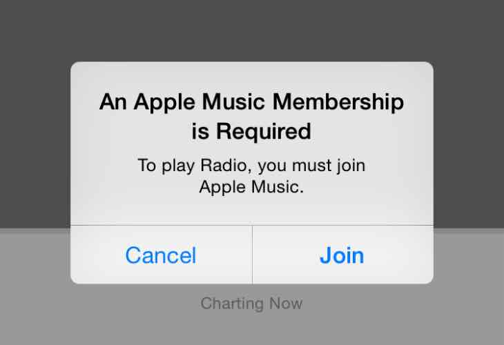 An Apple Music Membership is required