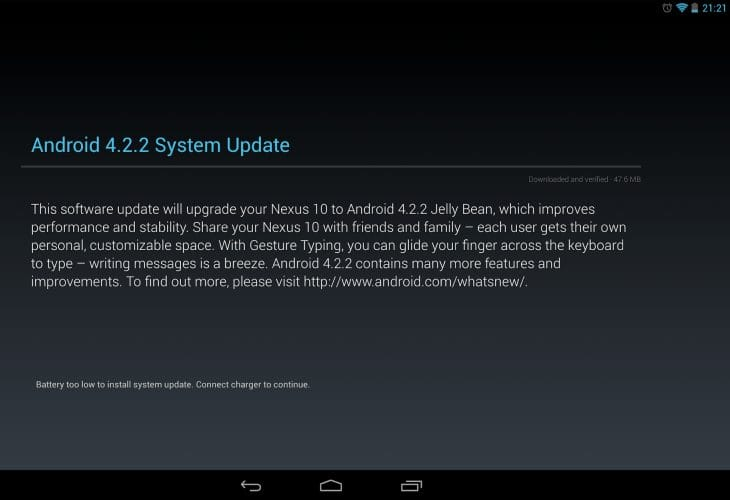Android 4.2.2 update changes includes new battery features