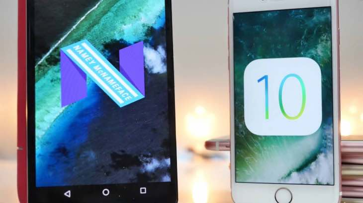Android 7 Nougat Vs iOS 10