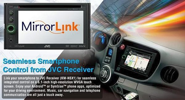 Android apps in car with JVC MirrorLink Receiver