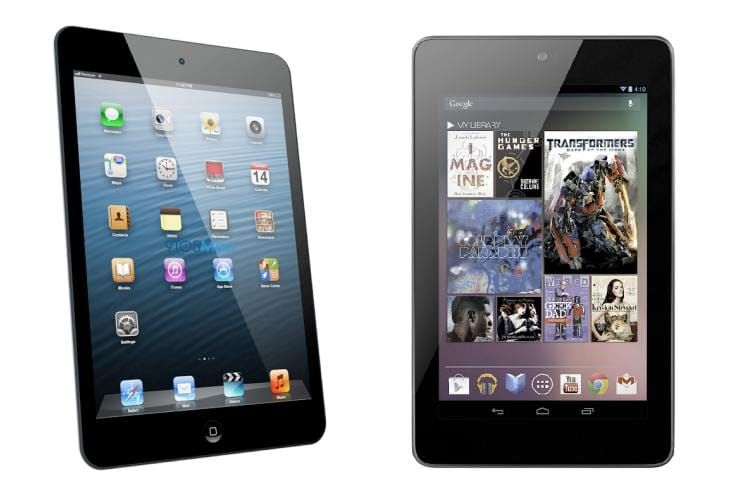 Android tablet vs. Apple iPad market share in 2013, 2017