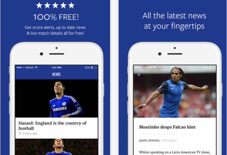 App update for Chelsea transfer news