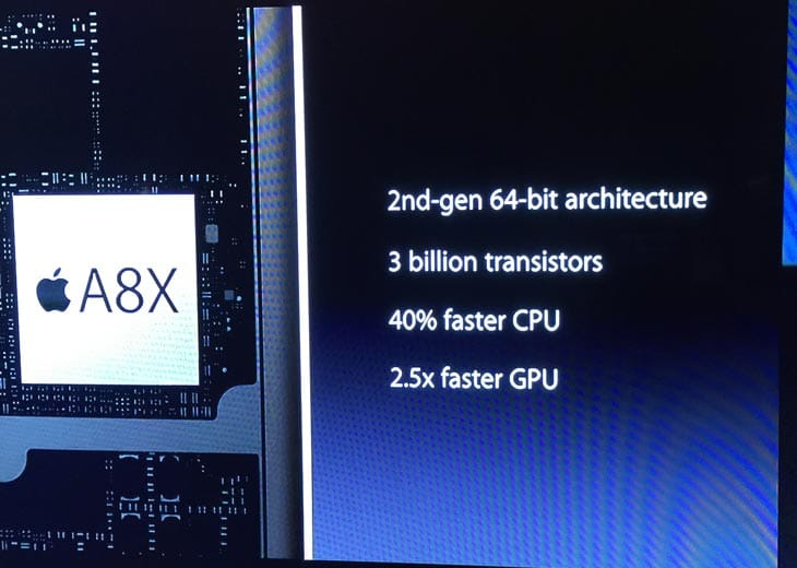 Apple-A8X-official-specs-in-iPad-Air-2