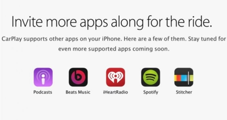 Apple CarPlay supported apps swells