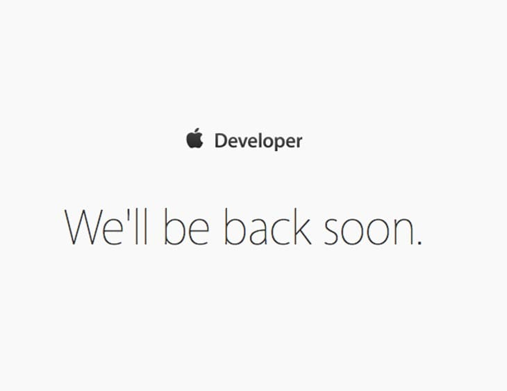 Apple-Developer-login-down-june-8