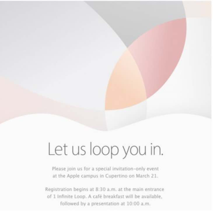 Apple Event on March 21 for new products