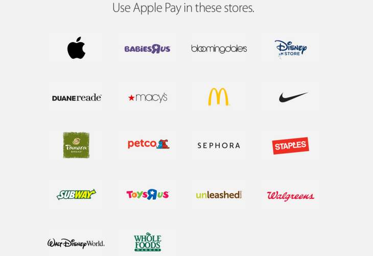 Apple Pay supported stores