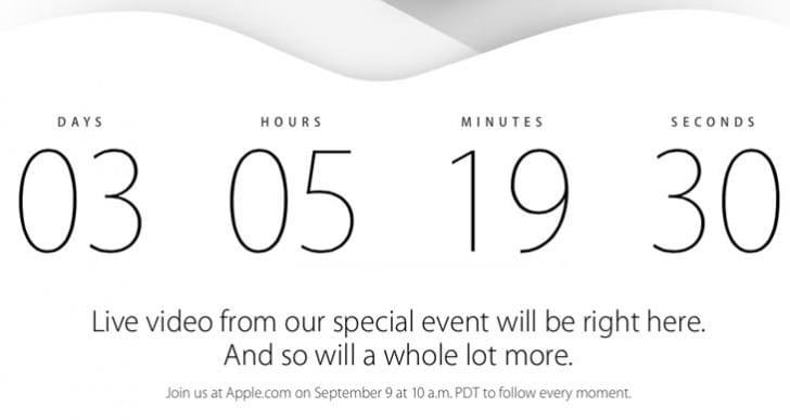 Apple Sept 9 event countdown teases live coverage