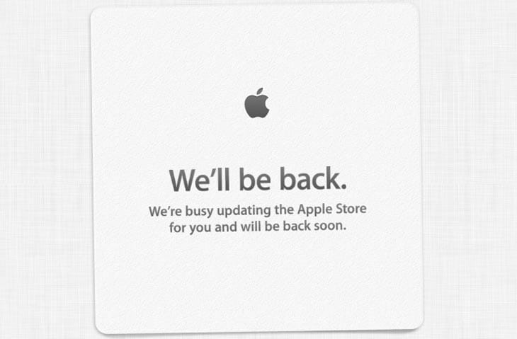 Apple Store down as new iPad mini with Retina hoped