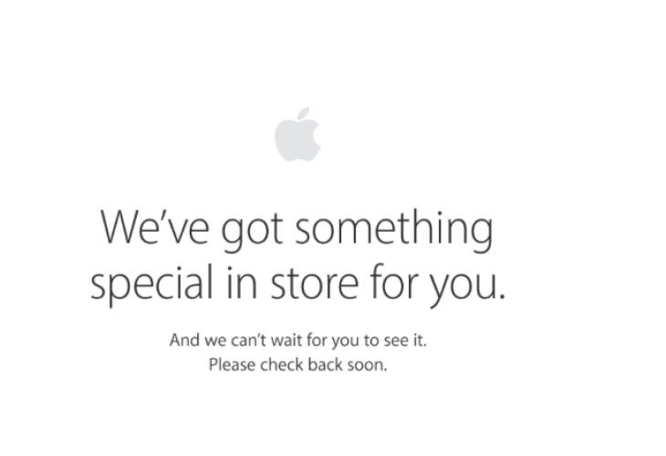 Apple Store down today before Special Event