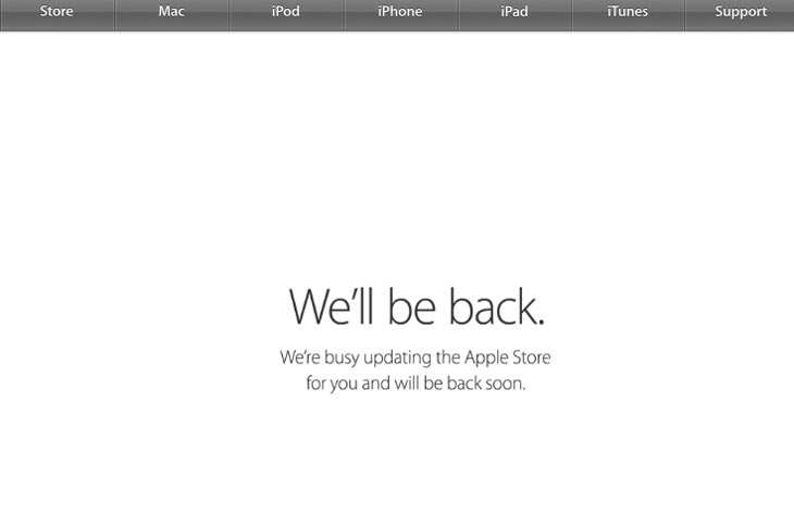 Apple Store down today for October 2014 event