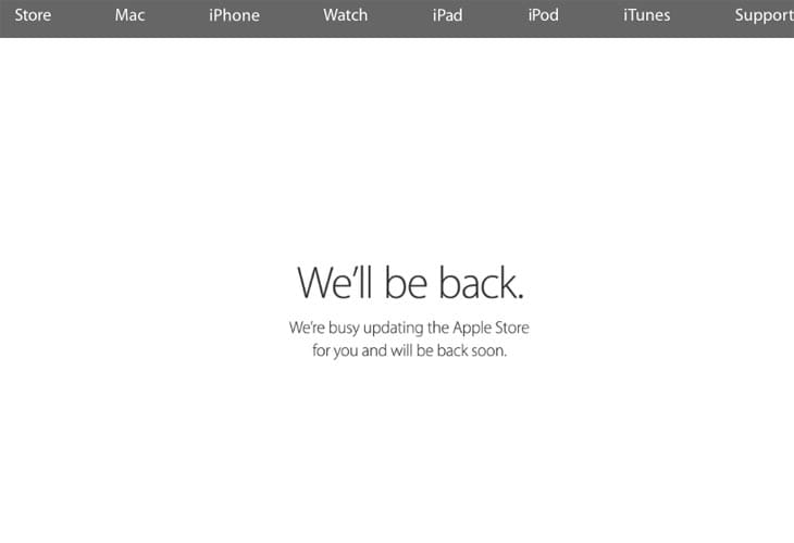Apple-Store-down-today-watch-pre-order