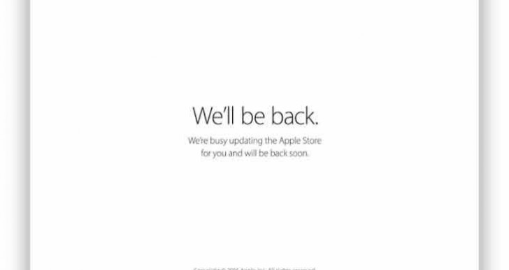 Apple Store down, iPhone 6S, TV 4 pre-order preparation
