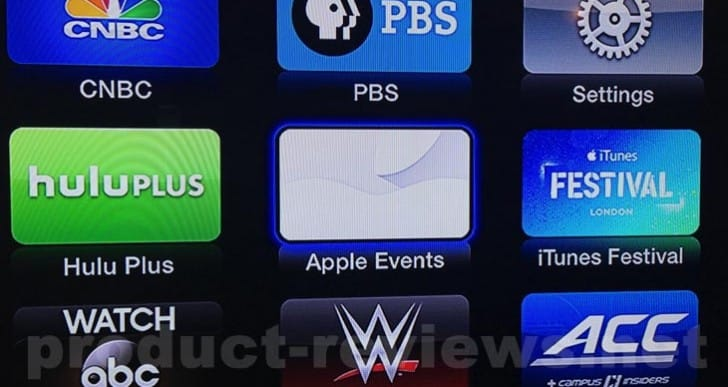 Apple TV Special Event icon live for 2014