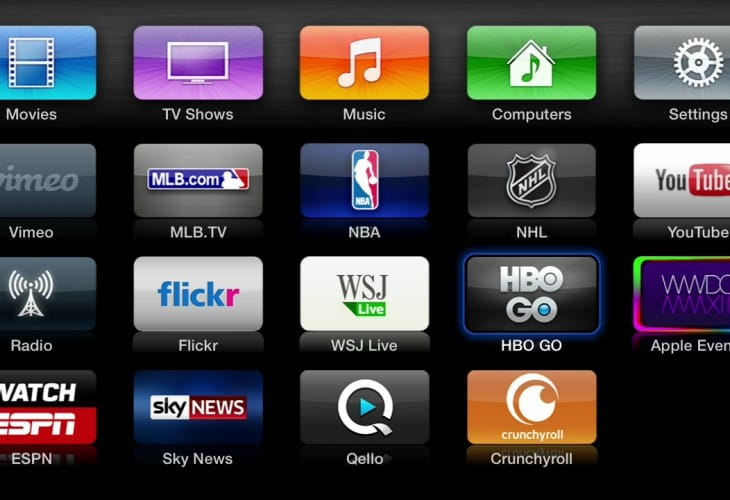 Apple TV apps require a coming soon list